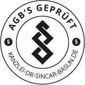 Kanzlei Dr. Sincar Basun Siegel - AGBs Geprüft