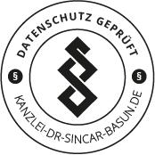 Kanzlei Dr. Sincar Basun Rechtsanwaltskanzlei  Siegel - Datenschutz Geprüft