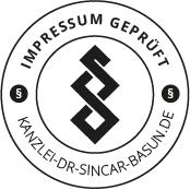 Kanzlei Dr. Sincar Basun Siegel - Impressum Geprüft